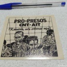 Pegatinas de colección: PRO-PRESOS CNT.AIT. Lote 182046276