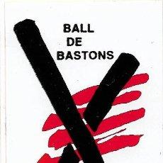 Adesivi di collezione: BALL DE BASTONS, COORDINADORA DE CATALUNYA, AÑOS 90. Lote 182100698