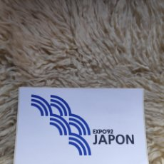 Pegatinas de colección: PEGATINA PABELLÓN DE JAPÓN - EXPO 92. Lote 182141216