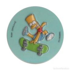 Pegatinas de colección: SIMPSON BART SKATE 6,5 CM PEGATINA. Lote 182913312