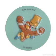 Pegatinas de colección: SIMPSON BART TIRACHINAS 6,5 CM PEGATINA. Lote 182913476