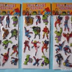 Pegatinas de colección: MARVEL SUPER HEROES PUFFY STICKERS MARVEL COMICS GROUP 1981. Lote 182938867