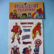 Pegatinas de colección: MARVEL SUPER HEROES PUFFY STICKERS MARVEL COMICS GROUP 1981. Lote 182938948