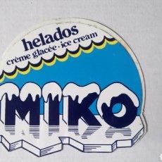 Pegatinas de colección: PEGATINA DE HELADOS MIKO.. Lote 183252657