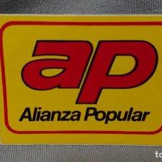 Pegatinas de colección: PEGATINA POLÍTICA VOTA AP ALIANZA POPULAR . Lote 183729053