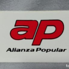 Pegatinas de colección: PEGATINA POLÍTICA VOTA AP ALIANZA POPULAR . Lote 183730080