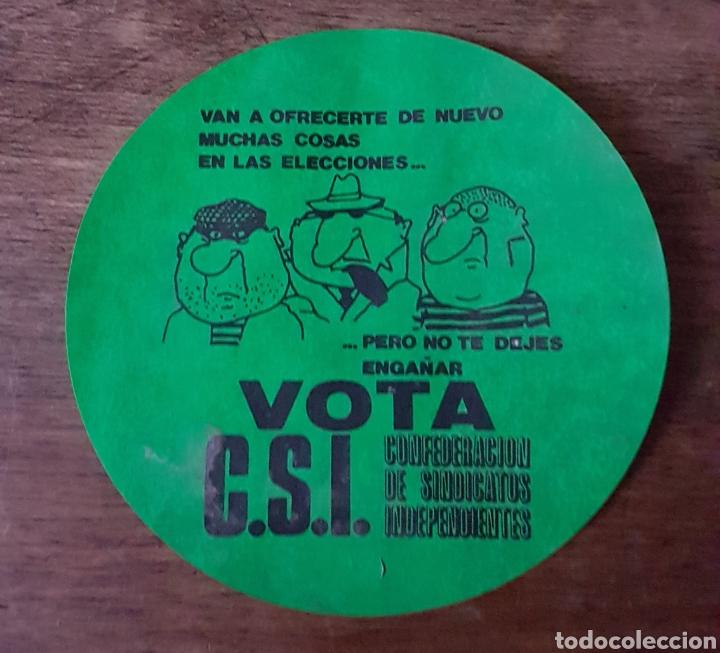 PEGATINA SINDICATO CSI AÑOS 80 ZXY (Coleccionismos - Pegatinas)