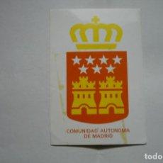 Pegatinas de colección: PEATINA ESCUDO CDAD.AUTONOMA MADRID. Lote 183868097