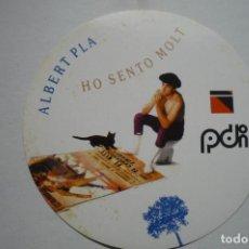 Pegatinas de colección: PEGATINA MUSICAL CANTANTE ALBERT PLA. Lote 183868246