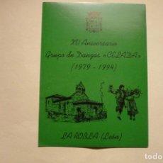 Pegatinas de colección: PEGATINA 15 ANIV. GRUPO DANZAS CELADA LA ROBLA LEON. Lote 183868260