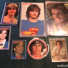Pegatinas de colección: MIGUEL BOSE 8 FOTOS PEGATINAS SUPER POP REVISTA PRONTO MIGUEL BOSE DONMINGUIN 1990. Lote 184073517