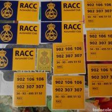 Pegatinas de colección: 12 PEGATINAS RACC AUTOMOBIL CLUB. Lote 184254703