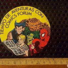 Pegatinas de colección: PEGATINA - ADHESIVO - COMICS FORUM - SPIDERMAN, LOBEZNO, HULKA, LA COSA - SUPERHEROES, SUPER HEROES. Lote 184441372