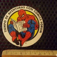 Pegatinas de colección: PEGATINA - ADHESIVO - COMICS FORUM - SPIDERMAN - SPIDER-MAN - AÑOS 80. Lote 184441556
