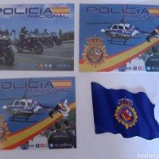 Pegatinas de colección: 4 PEGATINAS POLICÍA NACIONAL (BANDERA). Lote 184771026