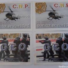 Pegatinas de colección: 4 PEGATINAS POLICÍA NACIONAL (HELICÓPTEROS + GEO). Lote 184772677