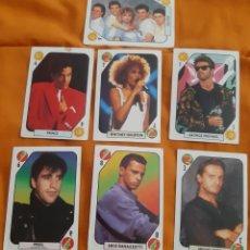 Pegatinas de colección: 7 CROMOS TELE BANCO POP (1.988). Lote 184783458