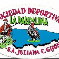Pegatinas de colección: SOCIEDAD DEPORTIVA LA PARDALINA, ASTURIAS, AÑOS 90. Lote 184800158