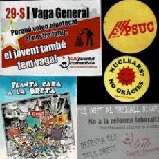 Pegatinas de colección: C16-11 PEGATINAS POLITICAS CONJUNTO DE 30 EJEMPLARES VER.... Lote 184856763