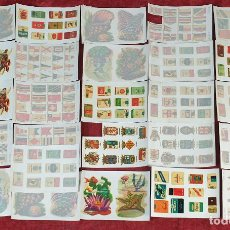 Pegatinas de colección: COLECCION DE 27 HOJAS DE CALCOMANIAS. VARIAS TEMÁTICAS. SIGLO XX. . Lote 184921680
