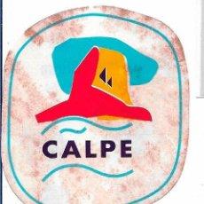 Pegatinas de colección: CALPE, AÑOS 90. Lote 185281588