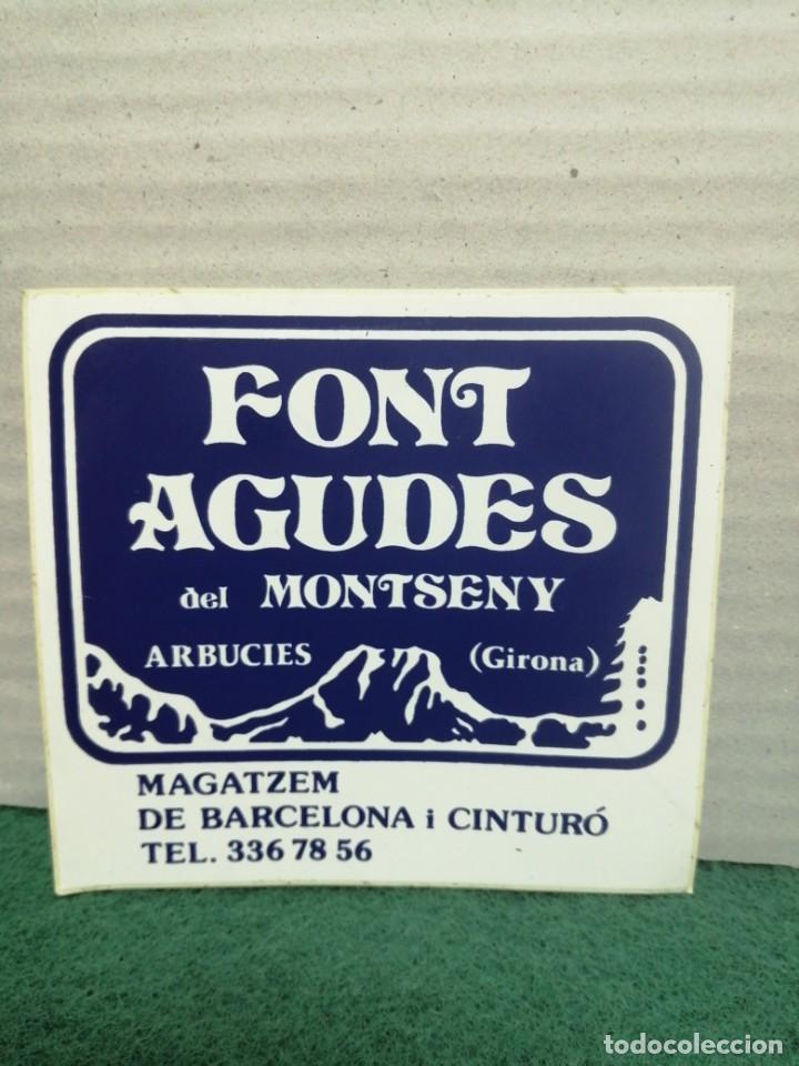 PEGATINA AGUA FONT AGUDES (Coleccionismos - Pegatinas)