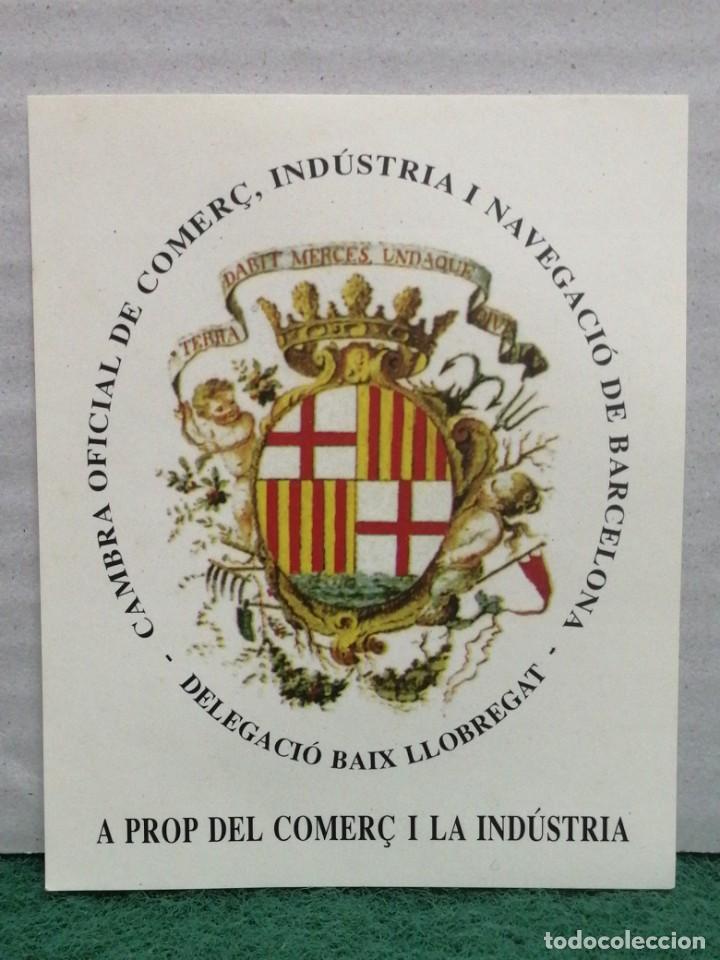 PEGATINA CAMBRA DE COMERÇ DE BARCELONA (DELEGACIÓN BAIX LLOBREGAT) (Coleccionismos - Pegatinas)