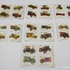 Pegatinas de colección: LOTE CALCOMANIAS ORTEGA - SERIE C-A - COCHES ANTIGUOS DE ÉPOCA. Lote 186334880