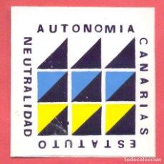 Pegatinas de colección: PEGATINA POLITICA CANARIAS, EPOCA TRANSICION, VER FOTOS. Lote 186437142