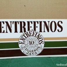 Pegatinas de colección: PEGATINA GRANDE ENTREFINOS CIGARROS JAVA AÑOS 80. Lote 187132725