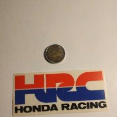 Autocolantes de coleção: PEGATINA HONDA RACING MOTOR AUTOMOVILISMO. Lote 189763855