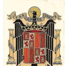 Pegatinas de colección: PEGATINA CON EL ESCUDO FRANQUISTA. Lote 190093587