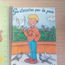 Autocollants de collection: PEGATINA GASTEIZTXO POR LA PAZ - GASTEIZTXO PAKEAREN ALDE - AÑO 1987. Lote 190191705
