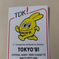 Adesivi di collezione: PEGATINA - TDK CAMPEONATO ATLETISMO TOKIO 91 - 9 CM. Lote 190229613