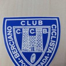 Adesivi di collezione: PEGATINA - CLUB CICLISTA BERCIANO PONFERRADA - 7 CM. Lote 190229935
