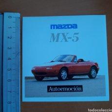 Pegatinas de colección: PEGATINA MAZDA MX-5 AÑO 1989. Lote 190617398