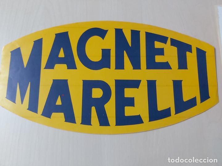 GRAN PEGATINA MOTOR - MAGNETI MARELLI BUJIAS - 26 CM (Coleccionismos - Pegatinas)