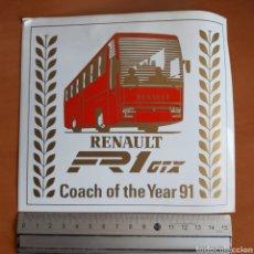 Pegatinas de colección: PEGATINA RENAULT AÑO 1991. Lote 190824562