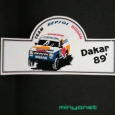 Autocolantes de coleção: PEGATINA TEAM REPSOL NISSAN DAKAR 89. Lote 191206070