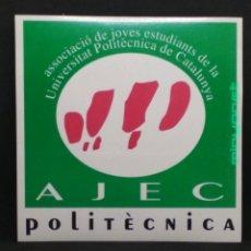 Pegatinas de colección: PEGATINA AJEC POLITÈCNICA - ASSOCIACIÓ JOVES ESTUDIANTS. Lote 191339136