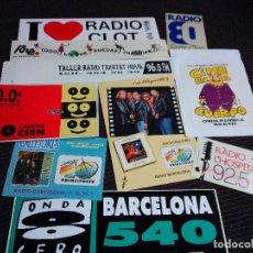 Autocolantes de coleção: PEGATINA ADHESIVO RADIO EMISORA RADIOS 9 MODELOS. Lote 191711315
