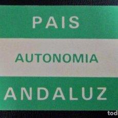 Autocolantes de coleção: PEGATINA POLÍTICA PAIS ANDALUZ AUTONOMÍA. BANDERA ANDALUCÍA. Lote 191770240
