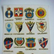 Pegatinas de colección: CALCOMANIAS ORTEGA AÑOS 60-70 ESCUDOS DE FUTBOL. Lote 192091673