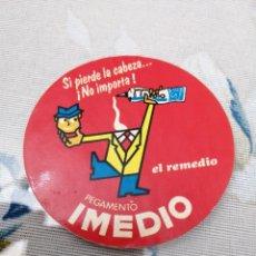 Pegatinas de colección: PEGATINA PUBLICIDAD AÑOS 80 PEGAMENTO IMEDIO. Lote 192092011