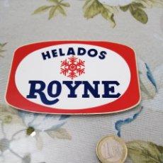 Pegatinas de colección: PUBLICIDAD PEGATINA HELADOS ROYNE. Lote 192092180