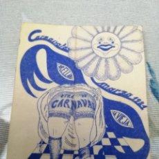 Pegatinas de colección: PEGATINA CARNAVAL 1981 ORELLANA LA VIEJA. Lote 192092386