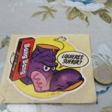 Pegatinas de colección: PUBLICIDAD PEGATINA 1983 CHICLES BANG BANG. Lote 192092680