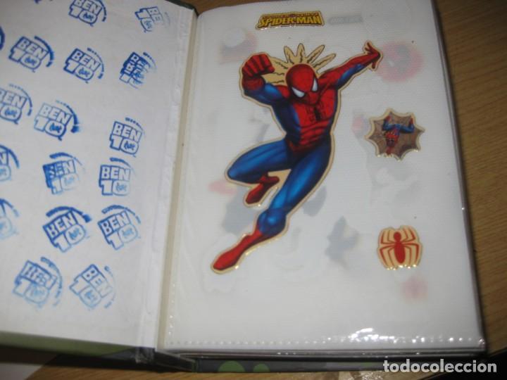 Pegatinas de colección: album con muchisimas pegatinas spiderman, mickey cars doraimon super heroes tanques - Foto 3 - 192099713