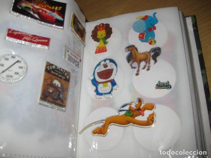 Pegatinas de colección: album con muchisimas pegatinas spiderman, mickey cars doraimon super heroes tanques - Foto 4 - 192099713