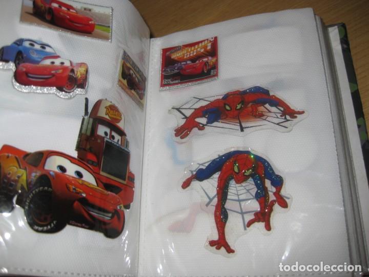 Pegatinas de colección: album con muchisimas pegatinas spiderman, mickey cars doraimon super heroes tanques - Foto 5 - 192099713